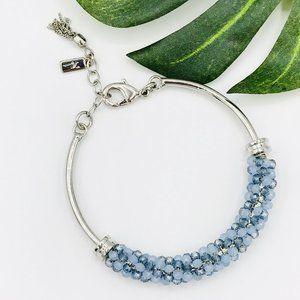 Vera Wang Blue Bead Bangle Bracelet